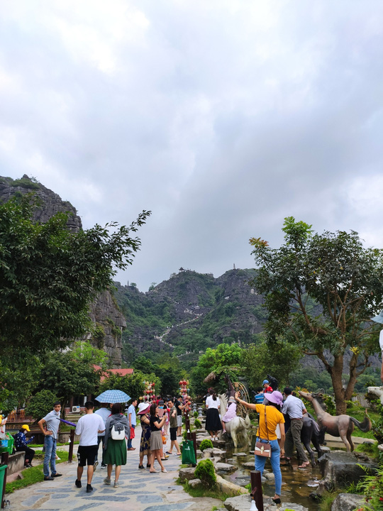 Vườn xương rồng, thác nước tuyệt đẹp dưới chân Hang Múa hút giới trẻ - Ảnh 1.