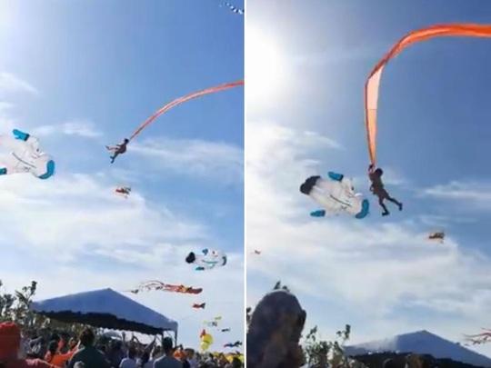 Dây diều quấn quanh bụng, bé gái Đài Loan 3 tuổi bị cuốn bay lên trời - Ảnh 1.