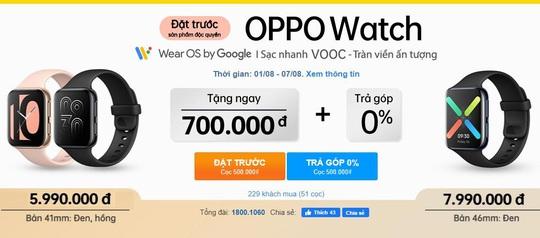 """Đặt trước siêu phẩm OPPO Watch đầu tiên với """"giá cực tốt"""", độc quyền tại Thế Giới Di Động - Ảnh 1."""