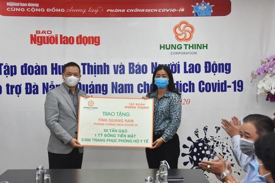Gần 5 tỉ đồng hỗ trợ Đà Nẵng, Quảng Nam phòng, chống Covid-19 - Ảnh 2.