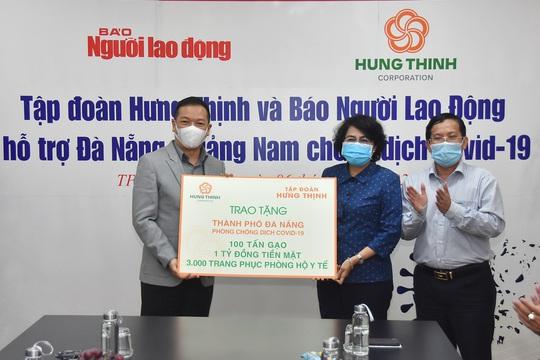 Gần 5 tỉ đồng hỗ trợ Đà Nẵng, Quảng Nam phòng, chống Covid-19 - Ảnh 1.