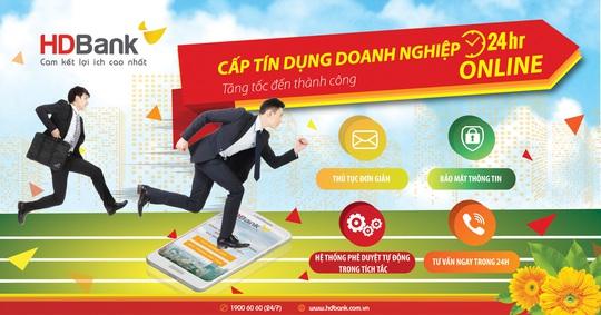 Cấp tín dụng doanh nghiệp online 24/7 tại HDBank - Ảnh 1.