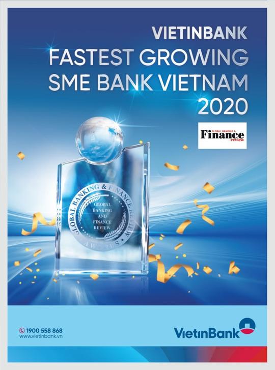 """VietinBank nhận giải """"Ngân hàng SME phát triển nhanh nhất Việt Nam 2020"""" - Ảnh 1."""