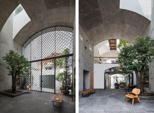 Ngôi nhà như hang động nhờ thiết kế không gian vòm độc đáo - Ảnh 1.