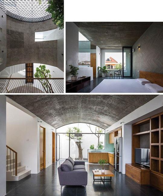 Ngôi nhà như hang động nhờ thiết kế không gian vòm độc đáo - Ảnh 4.