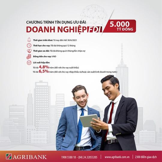 Agribank dành 5.000 tỉ đồng cho vay ưu đãi khách hàng doanh nghiệp FDI - Ảnh 1.
