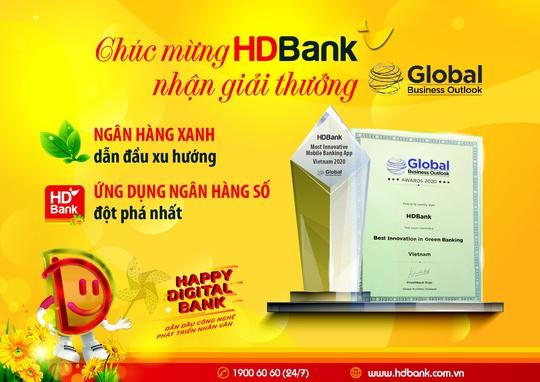 HDBank nhận giải Triển vọng Kinh doanh Toàn cầu năm 2020 - Ảnh 1.