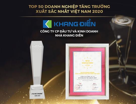 Trao giải Top 50 DN tăng trưởng xuất sắc nhất Việt Nam và Top 10 chủ đầu tư BĐS Việt Nam uy tín năm 2020 - Ảnh 1.