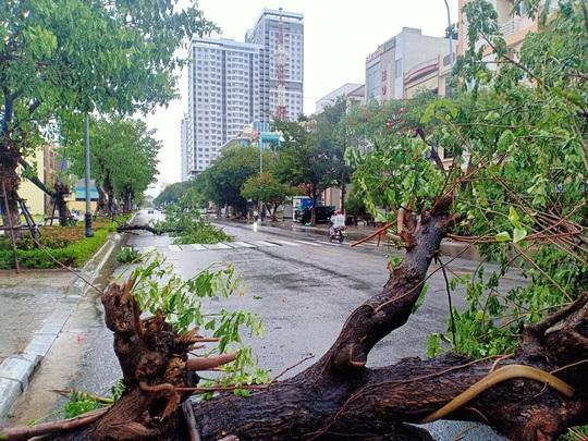 Chùm ảnh trước bão: Đà Nẵng mưa xối xả ngập đường, sấm sét vang trời - Ảnh 6.