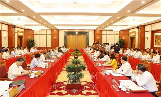 Tổng Bí thư, Chủ tịch nước chủ trì buổi làm việc với Thường vụ Thành ủy Hà Nội - Ảnh 1.