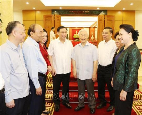 Tổng Bí thư, Chủ tịch nước chủ trì buổi làm việc với Thường vụ Thành ủy Hà Nội - Ảnh 7.