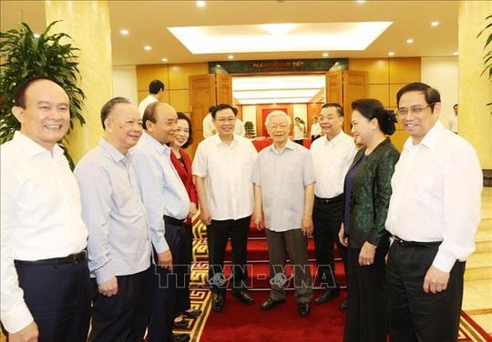 Tổng Bí thư, Chủ tịch nước chủ trì buổi làm việc với Thường vụ Thành ủy Hà Nội - Ảnh 6.