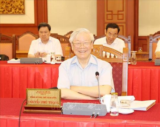 Tổng Bí thư, Chủ tịch nước chủ trì buổi làm việc với Thường vụ Thành ủy Hà Nội - Ảnh 5.
