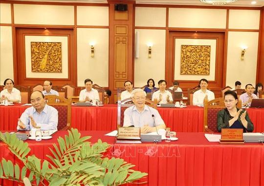 Tổng Bí thư, Chủ tịch nước chủ trì buổi làm việc với Thường vụ Thành ủy Hà Nội - Ảnh 2.
