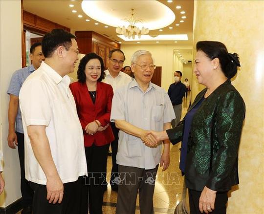 Tổng Bí thư, Chủ tịch nước chủ trì buổi làm việc với Thường vụ Thành ủy Hà Nội - Ảnh 8.