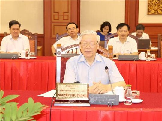 Tổng Bí thư, Chủ tịch nước chủ trì buổi làm việc với Thường vụ Thành ủy Hà Nội - Ảnh 3.
