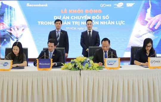 Sacombank mạnh tay chuyển đổi số trong quản trị nguồn nhân lực - Ảnh 1.