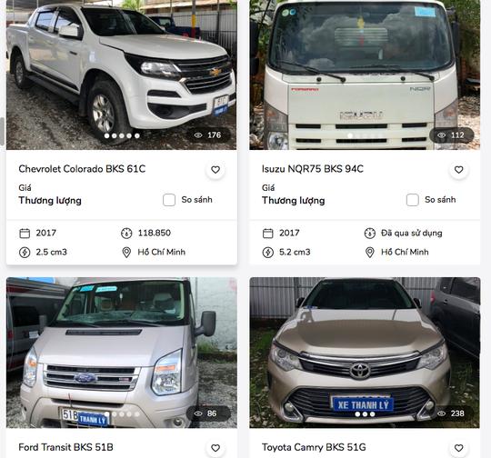 Ngân hàng thanh lý cả xe đầu kéo, xe tải Trung Quốc để thu hồi nợ - Ảnh 1.