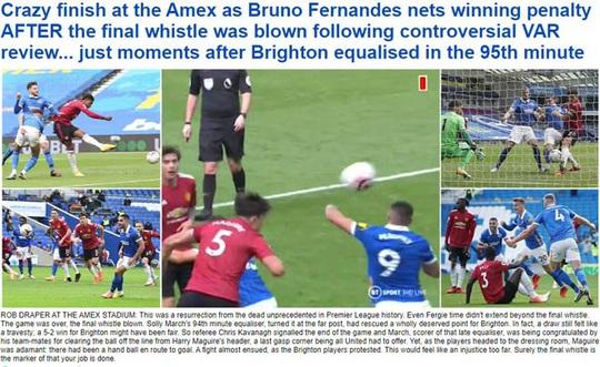 Hưởng phạt đền khi trận đấu đã kết thúc, Man United ngược dòng điên rồ trước Brighton - Ảnh 8.