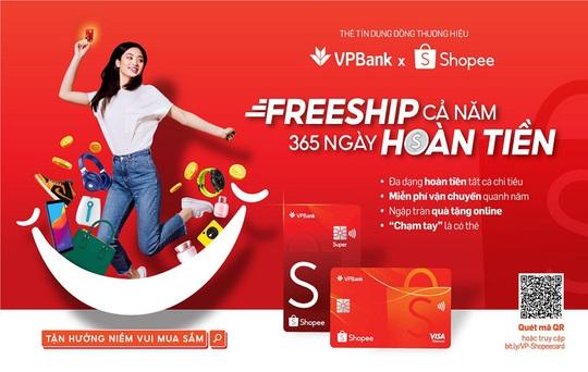 Thẻ tín dụng VPBank - Shopee ưu đãi miễn phí vận chuyển và hoàn tiền lên đến 10% suốt cả năm - Ảnh 1.