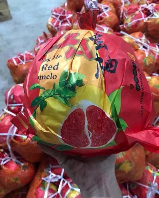 Bưởi Trung Quốc ruột đỏ au, vỏ vàng không hạt, ngày bán cả tấn - Ảnh 2.