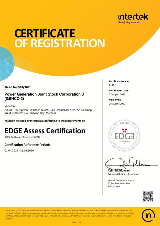 Tổng Công ty Phát điện 3 nhận chứng nhận bình đẳng giới toàn cầu EDGE - Ảnh 1.