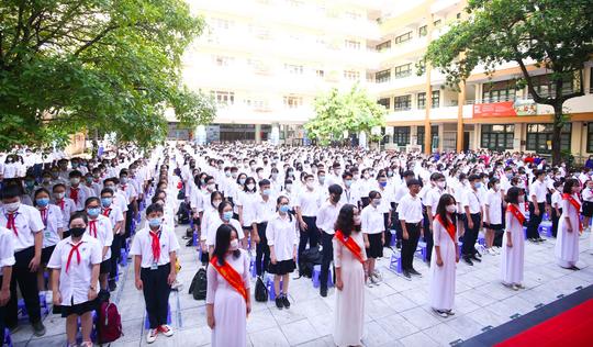 Lễ khai giảng đặc biệt tại Trường THS-THPT Nguyễn Tất Thành - Ảnh 1.