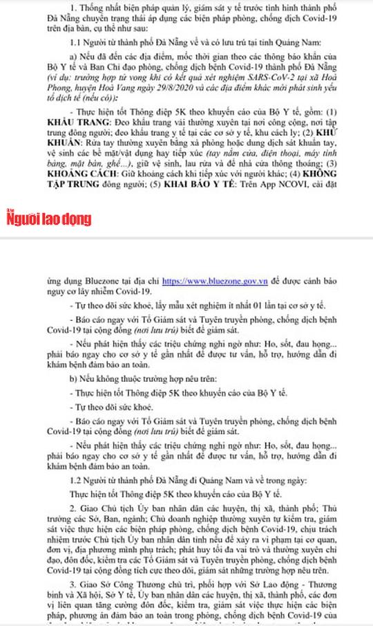 Quảng Nam duy trì chốt kiểm soát, người từ Đà Nẵng vào phải khai báo y tế - Ảnh 5.