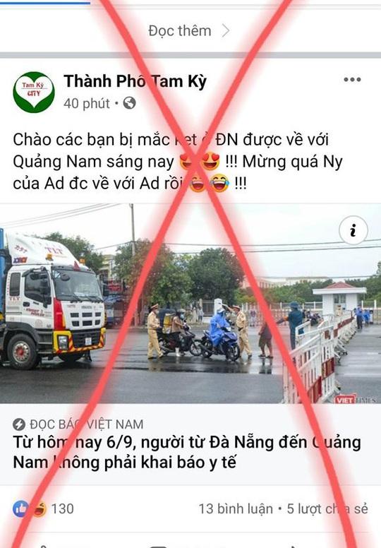 Quảng Nam duy trì chốt kiểm soát, người từ Đà Nẵng vào phải khai báo y tế - Ảnh 4.