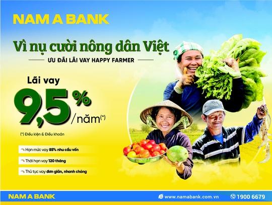 Nam A Bank dành nhiều ưu đãi cho vay nông nghiệp nông thôn - Ảnh 1.