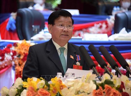 Tổng Bí thư, Chủ tịch nước Nguyễn Phú Trọng chúc mừng tân Tổng Bí thư Lào - Ảnh 1.