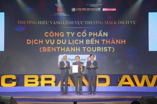 BenThanh Tourist nhận giải Thương hiệu Vàng TP HCM - Ảnh 1.