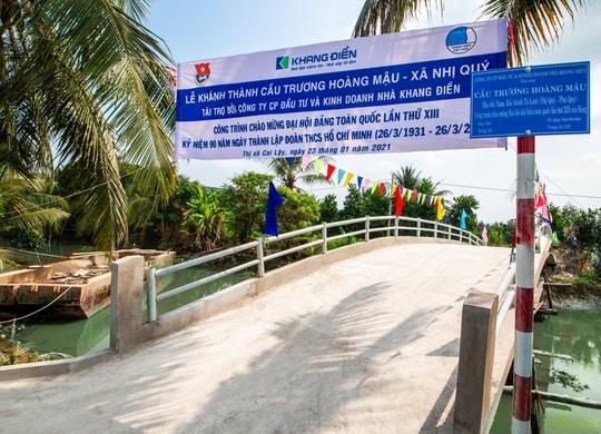 Khang Điền trao tặng 2 cây cầu nông thôn tại tỉnh Tiền Giang - Ảnh 3.