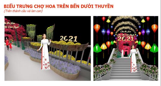 TP HCM: Rực rỡ Chợ Hoa Xuân Trên bến dưới thuyền - Ảnh 3.