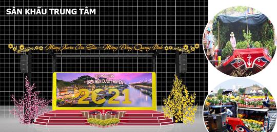 TP HCM: Rực rỡ Chợ Hoa Xuân Trên bến dưới thuyền - Ảnh 1.