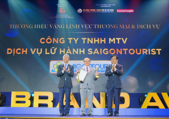 Lữ hành Saigontourist được công nhận là Thương hiệu Vàng TP HCM - Ảnh 1.