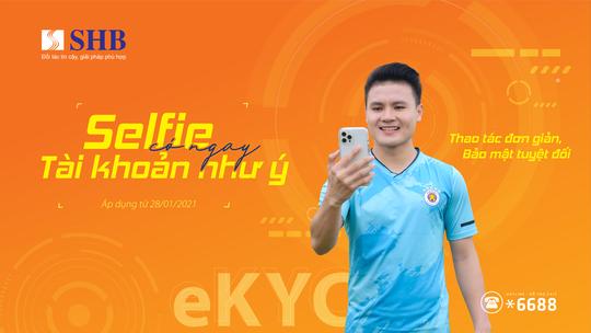 """""""Selfie"""" có ngay tài khoản như ý cùng SHB - Ảnh 1."""