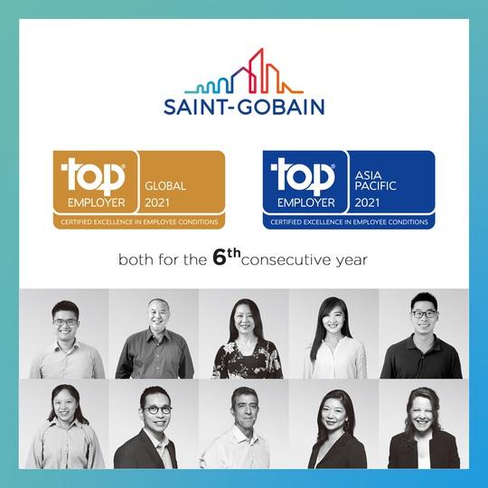 Năm thứ 6 liên tiếp Saint-Gobain nhận danh hiệu Global Top Employer - Ảnh 1.