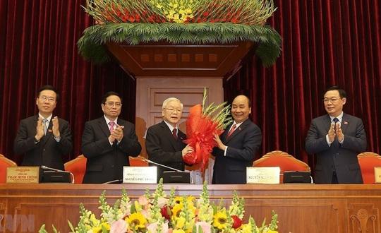 Chùm ảnh: Tổng Bí thư, Chủ tịch nước Nguyễn Phú Trọng tái đắc cử - Ảnh 1.