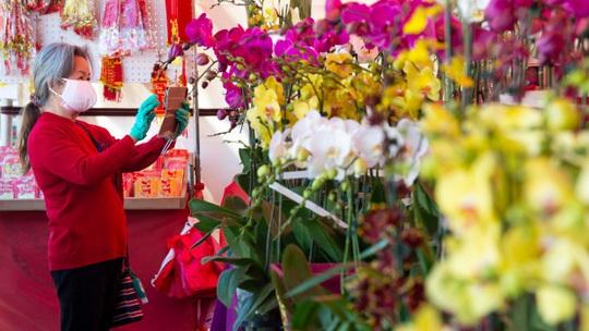 Mỹ: Chợ hoa Tết của người Việt ở khu Phước Lộc Thọ gây bất ngờ - Ảnh 1.