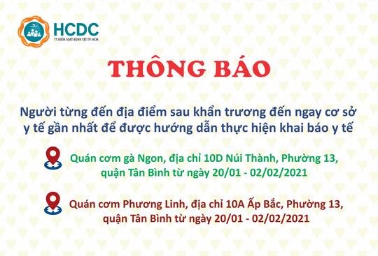 TP HCM: Khẩn trương truy tìm những người đến 2 quán cơm ở quận Tân Bình - Ảnh 1.
