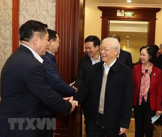 Chùm ảnh: Tổng Bí thư, Chủ tịch nước chủ trì phiên họp Bộ Chính trị, Ban Bí thư khóa XIII - Ảnh 2.