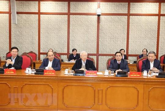 Chùm ảnh: Tổng Bí thư, Chủ tịch nước chủ trì phiên họp Bộ Chính trị, Ban Bí thư khóa XIII - Ảnh 8.