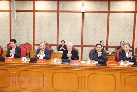 Chùm ảnh: Tổng Bí thư, Chủ tịch nước chủ trì phiên họp Bộ Chính trị, Ban Bí thư khóa XIII - Ảnh 9.