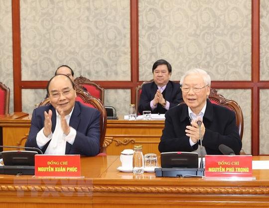 Chùm ảnh: Tổng Bí thư, Chủ tịch nước chủ trì phiên họp Bộ Chính trị, Ban Bí thư khóa XIII - Ảnh 7.