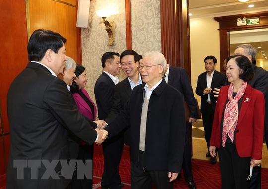 Chùm ảnh: Tổng Bí thư, Chủ tịch nước chủ trì phiên họp Bộ Chính trị, Ban Bí thư khóa XIII - Ảnh 4.