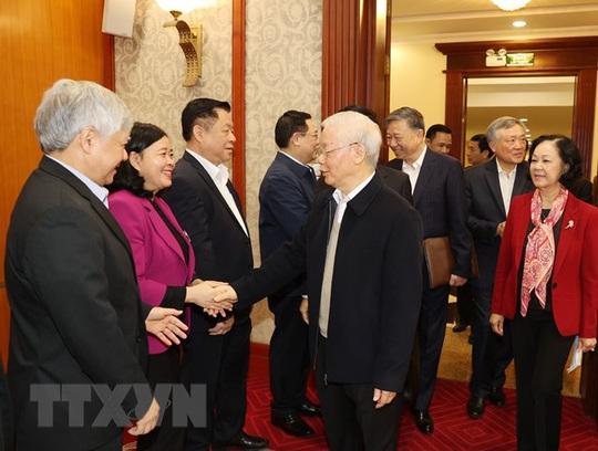 Chùm ảnh: Tổng Bí thư, Chủ tịch nước chủ trì phiên họp Bộ Chính trị, Ban Bí thư khóa XIII - Ảnh 3.