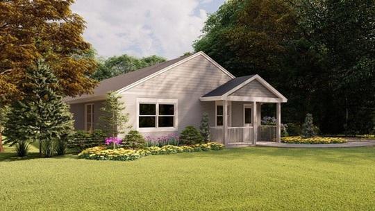 Đẹp ngỡ ngàng ngôi nhà in 3D, được xây dựng bằng robot - Ảnh 1.