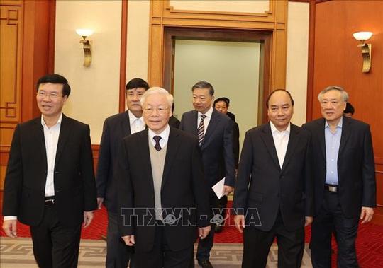 Gặp mặt các nguyên Ủy viên Bộ Chính trị, Ban Bí thư, Ủy viên Trung ương Khóa XII - Ảnh 4.