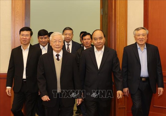 Gặp mặt các nguyên Ủy viên Bộ Chính trị, Ban Bí thư, Ủy viên Trung ương Khóa XII - Ảnh 5.